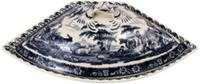 13 1/2  Wide Blue and White Porcelain Tureen (R324