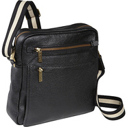 Front Flap Messenger Bag - Black