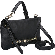 Studded Envelope Wristlet Clutch - Black