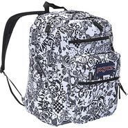 Jansport Big Student Pack Backpack - Black and Whi