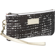 Cher Wristlet - Grey Stripes