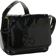 Moppet Diaper Bag: Patent - Black Patent