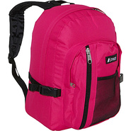 Backpack with Front Mesh Pocket - Hot Pink /