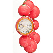 Happy Balls Ladies Watch White Dial; Light Pink Ba