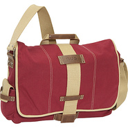 Eco-Friendly Canvas Laptop Messenger - Red