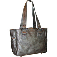Edie Leather Tote - Pewter