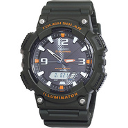 Men&#39;s Solar Sport Combination Watch Black - Casio 