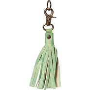 Leather Tassel Keychain - Apple Apple - Anuschka L