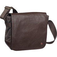 Rockefeller Waxed Shoulder Bag (XS) Dark Brown - T