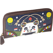 Crowded Teeth Panda-Roo Wallet Navy Blue/Multi - L