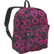 Pattern Printed Backpack - Pink Circles