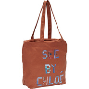 See By Tape Medium Shopping Bag Sienna - SEE by Ch