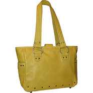 Edie Leather Tote Wyoming Yellow - Brynn Capella L