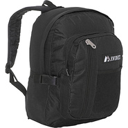 Backpack with Front Mesh Pocket - Black