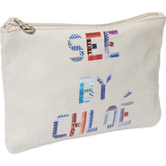 See By Tape Zipped Pouch Off White - SEE by Chloe