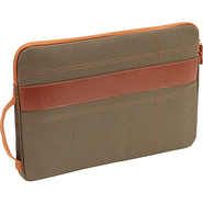Canvas Sleeve for 13  MacBook Pro Olive/Orange - N