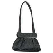 Addie Shoulder Bag Ebony - Maruca Design Fabric Ha