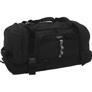Drop Bottom Duffel Black - Olympia Travel Duffels