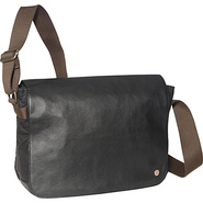 Sheridan Waxed Shoulder Bag (L) Black - TOKEN Men&#39;