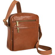Front Flap Messenger Bag - Brown
