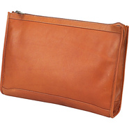 Zippered Folio Pouch - Saddle