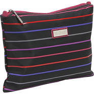 Medium Zippered Carry All - Pencil Stripes Berry