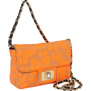 Mini Leopard Shoulder Bag Neon Orange Leopaed - Ju