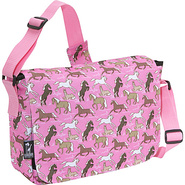 Horses in Pink Kickstart Messenger Bag - Horses
