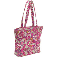 Three-O Tote Paisley Meets Plaid - Vera Bradley Fa