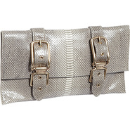 Buckle Clutch Embossed Shell Snake - Foley + Corin