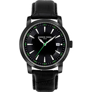 Vintage III Men's Watch - Leather Black/Green/Blac