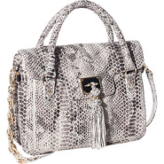 Cordoba Flap Tote Black/White Exotic - Elliott Luc
