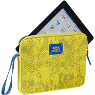 La Python Snake iPad  Wristlet  - Neoprene Yellow 