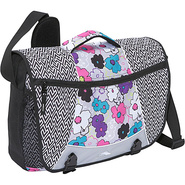 Tank Messenger Bag - Cut-Out Flowers,