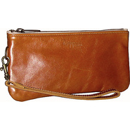 Cher Leather Wristlet Cognac - Brynn Capella Leath
