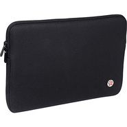 Crosstown 11  Waxed Canvas Laptop Sleeve Black - T