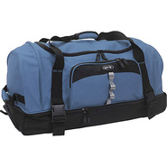 Drop Bottom Duffel Blue - Olympia Travel Duffels