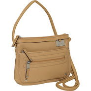 Item Zip Top Cross-Body Organizer Honey - Tignanel