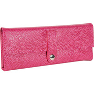 Pebble Grained Leather Jewel Roll Pink - Budd Leat