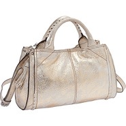 Cassidy Satchel GOLD - Perlina Leather Handbags