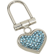Small Heart Key Chain - Aquamarine
