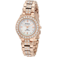 Swarovski Crystal Accented Watch Rose Gold - Armit