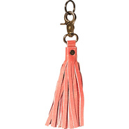 Leather Tassel Keychain - Cherry Cherry - Anuschka