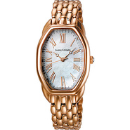 Turtle Ladies Watch White Dial; Rose Gold Band - T