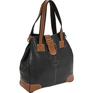 Milan Leather Tote - Black