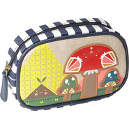 Crowded Teeth Mushroom Coin Bag Tan with Colored D