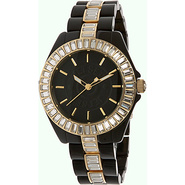 St- Tropez Ladies Watch Black Dial; Black Band; Cr