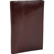 Old Leather Calling Card Case Dark Brown - Bosca M