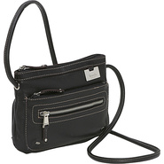 Zip Top Cross Body Organizer - Black