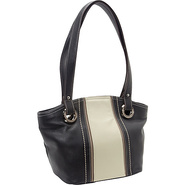 Prep School Dome Shopper Black/Bone - Tignanello L